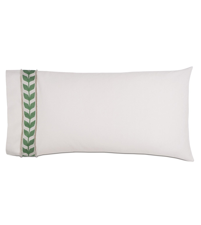 Akela Leaf King Sham in Green (Left) - ,