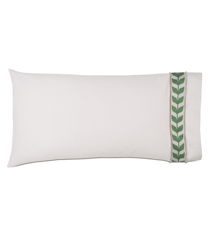 Akela Leaf King Sham in Green (Right) - ,