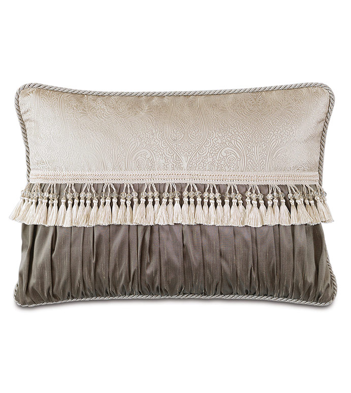 EDRIS TAUPE RUCHED INSERT - ,