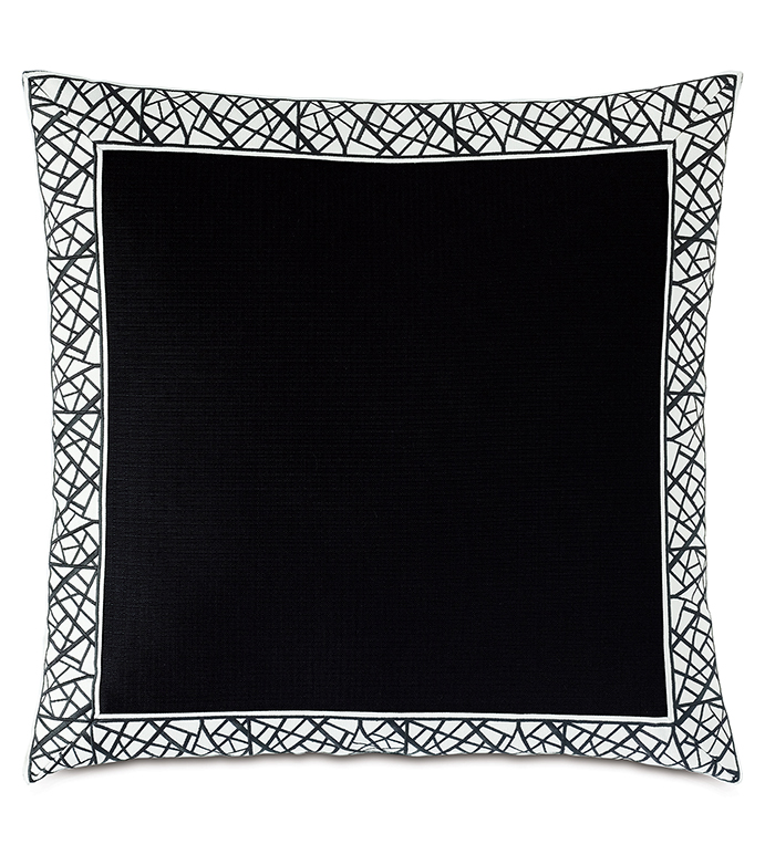 MADDOX MITERED BORDER DECORATIVE PILLOW