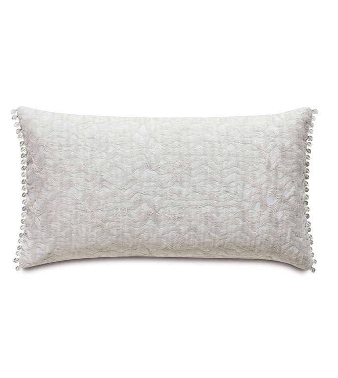 Naomi Textured Accent Pillow In Ivory - ACCENT PILLOW,THROW PILLOW,ACCENT PILLOW,EASTERN ACCENTS,IVORY,GLAM,TEXTURED,ABSTRACT,BEADED,