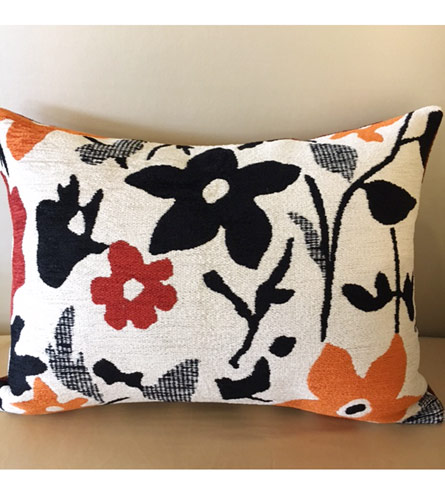 Modern Floral Pillows : Luxury Bedding by Eastern Accents - Modern Floral Decorative Pillow