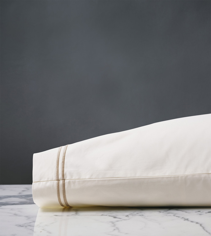 ENZO IVORY/BISQUE PILLOWCASE