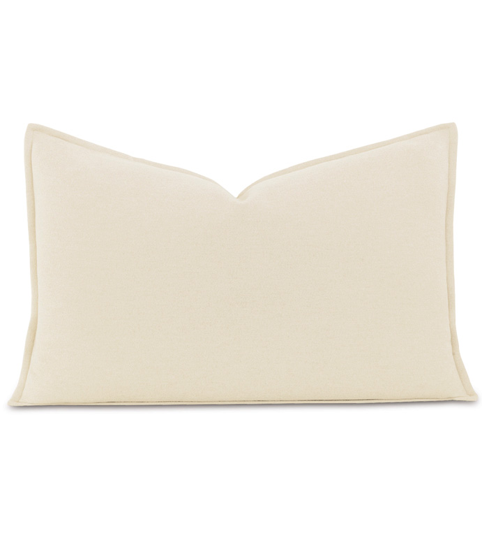 Brera Flannel Queen Sham in Ivory - ,