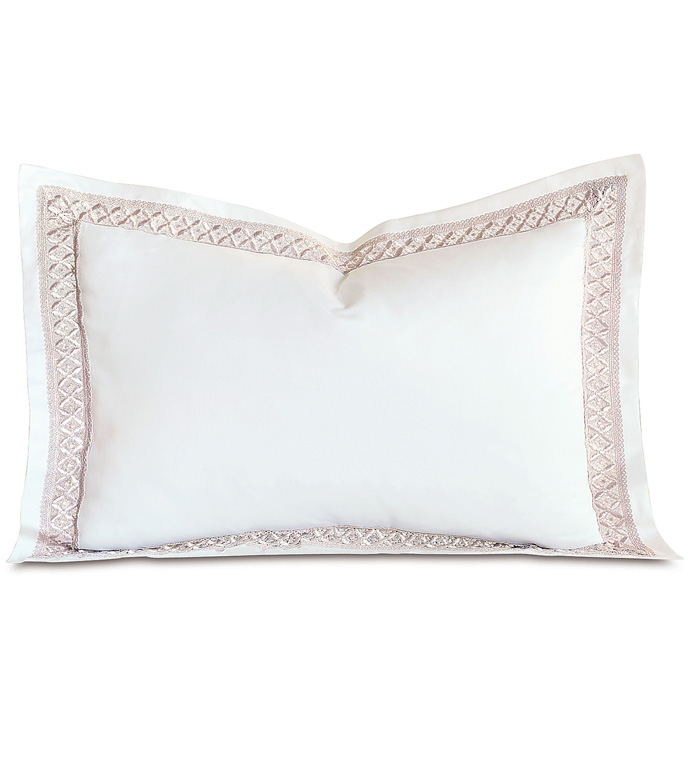 Juliet White/Fawn Queen Sham - ,