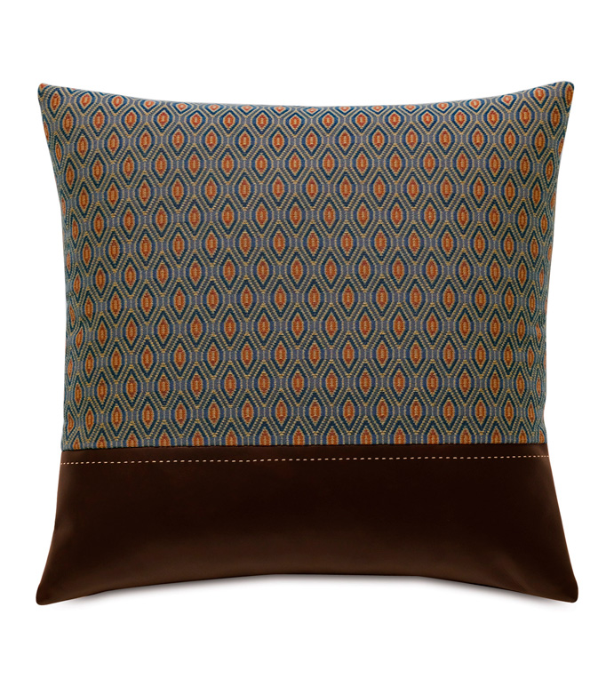 Rudy Ogee Accent Pillow - ACCENT PILLOW,THROW PILLOW,ACCENT PILLOW,EASTERN ACCENTS,MULTICOLORED,TRADITIONAL,WOVEN,OGEE,KNIFE EDGE FINISHING,