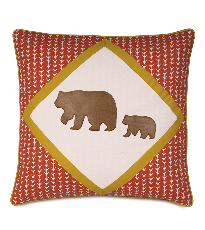 Murray Natural Diamond Insert - PILLOW,ANIMAL PILLOW,BEAR PILLOW,OUTDOORSY PILLOW,TOSS PILLOW,SQUARE PILLOW,COTTAGE PILLOW,CUSTOMIZABLE PILLOW,ZIPPER CLOSURE PILLOW,HIGH END PILLOW,WHIMSICAL PILLOW,ACCENT PILLOW