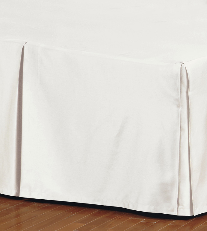 FRESCO CLASSIC IVORY PLEATED BED SKIRT
