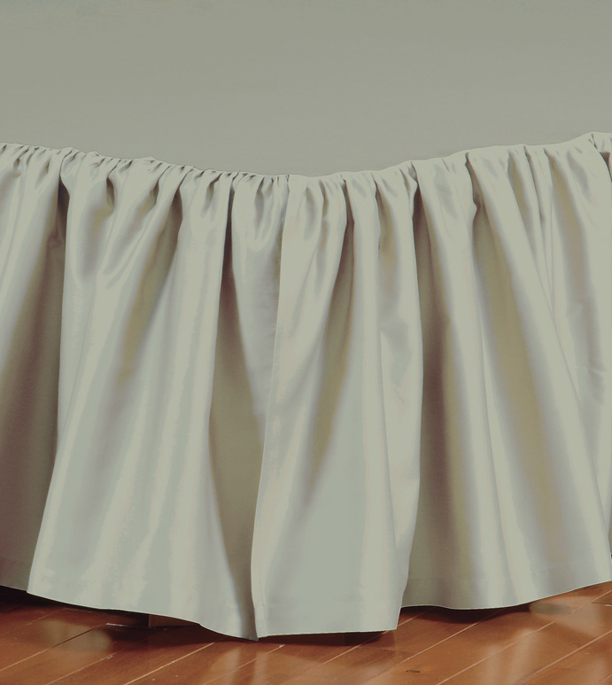 FRESCO CLASSIC ALOE RUFFLED BED SKIRT