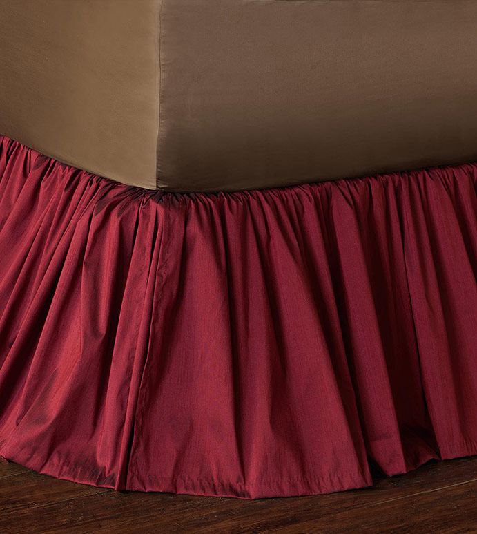 Edris Cranberry Bed Skirt