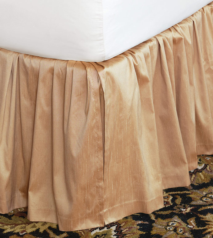 Edris Gold Bed Skirt