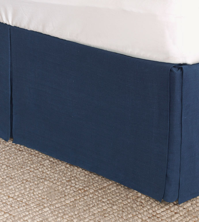 Resort Indigo Bed Skirt - ,