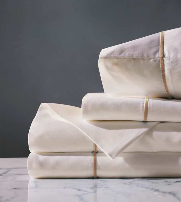 LINEA IVORY/ANTIQUE SHEET SET