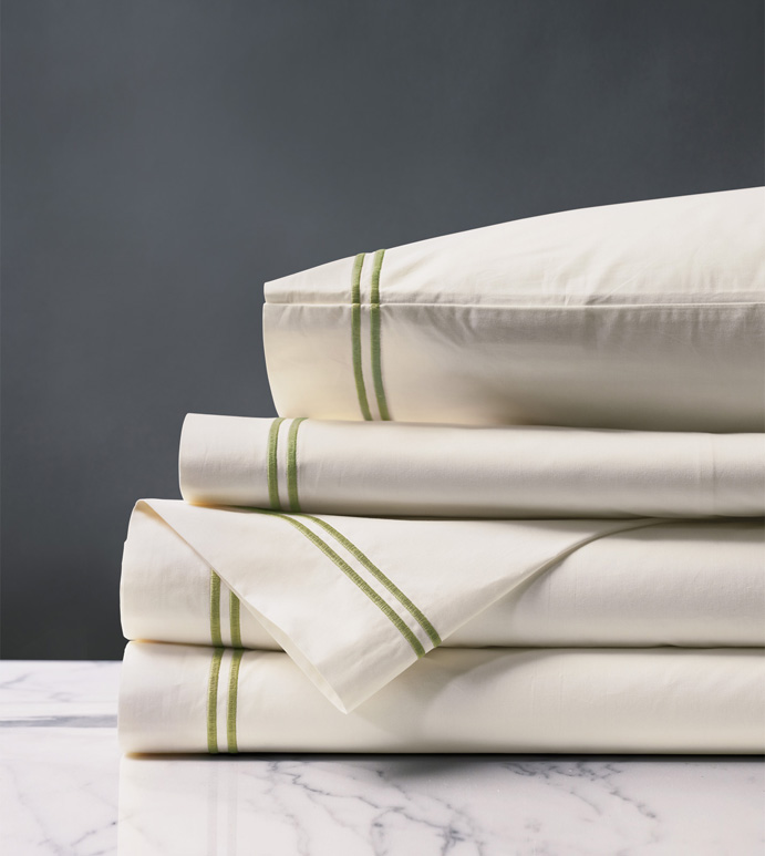ENZO IVORY/LIME SHEET SET