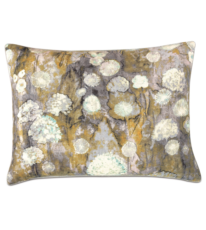 Evangeline Botanical Standard Sham - ACCENT PILLOW,THROW PILLOW,STANDARD SHAM,NICHE BY EASTERN ACCENTS,MULTICOLOREDL,CONTEMPORARY,LINEN,BOTANICAL,WELT,