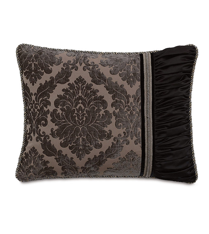 Isadora Charcoal Standard Sham (Right) - ,