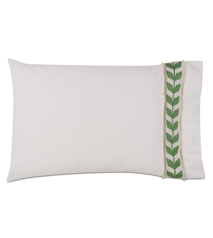 Akela Leaf Standard Sham in Green (Right) - ,