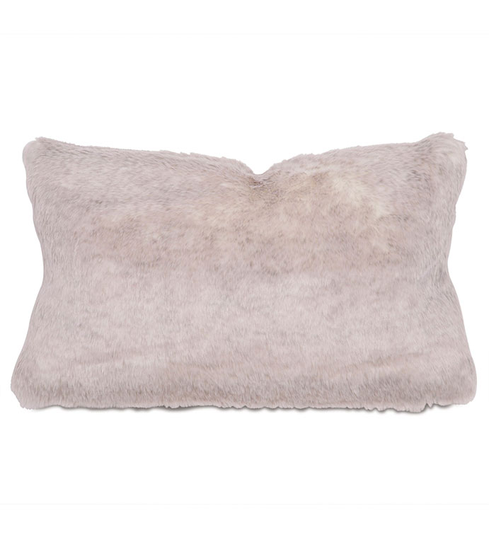 Damien Fox Boudoir - pillow,throw pillow,faux fur pillow,solid pillow,rectangle pillow,decorative pillow,boudoir sham pillow,sham accent pillow,faux animal fur pillow,feather pillow,zip closure pillow