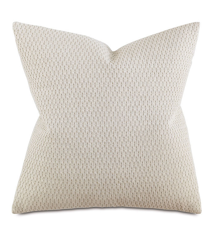 CUSTER LINEN DECORATIVE PILLOW - PILLOW,MATELASSE PILLOW,SQUARE PILLOW,TOSS CUSHION,THROW PILLOW,ACCENT PILLOW,WOVEN COVERED PILLOW,KNIFE EDGE TRIM FINISHING PILLOW,DECORATIVE PILLOW,LINEN PILLOW,UNISEX PILLOW