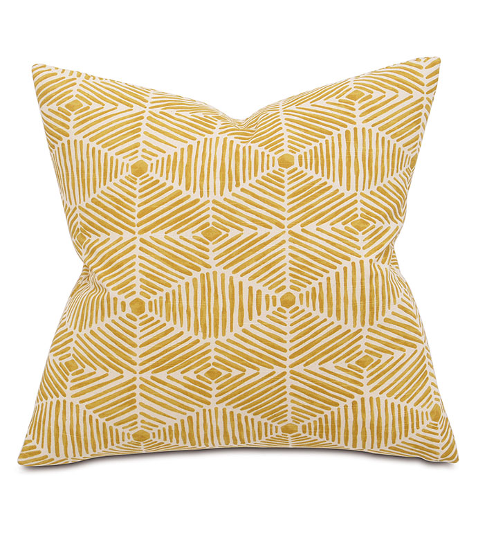Veldman Mustard Square - PILLOW,CONTEMPORARY PILLOW,SQUARE PILLOW,ACCENT PILLOW,THROW PILLOW,FEATHER PILLOW,ABSTRACT PILLOW,GEOMETRIC PILLOW PATTERN,ZIPPER CLOSURE PILLOW,ACCENT PILLOW,KNIFE EDGE TRIM