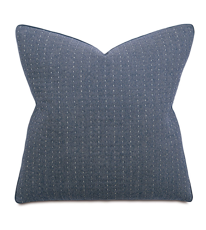 Baste Denim Euro Sham - pillow,euro sham,blue denim pillow,square pillow,toss cushion,throw pillow,accent pillow,denim covered pillow,cotton covered pillow,decorative pillow, denim acccent pillow