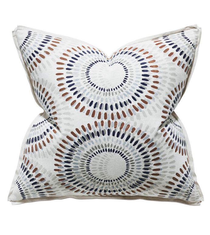 Filmore Geometric Euro Sham - ACCENT PILLOW,THROW PILLOW,EURO SHAM,THOM FILICIA,EASTERN ACCENTS,MULTICOLORED,CONTEMPORARY,GEOMETRIC,RIBBON,MODERN,LUXURY,LUXURY BEDDING,DESIGNER,DESIGNER BEDDING,CIRCLE PATTERN,