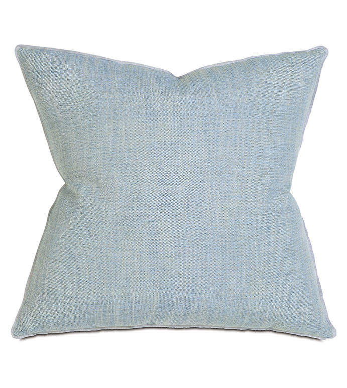 Draper Lake Extra Euro Sham - PILLOW,EURO SHAM PILLOW,BLUE EURO SHAM,SOLID PILLOW,SQUARE PILLOW,BLUE ACCENT PILLOW,THROW PILLOW,FEATHER PILLOW,BLUE PILLOW,ZIPPER CLOSURE PILLOW,BLUE PASTEL ACCENT PILLOW