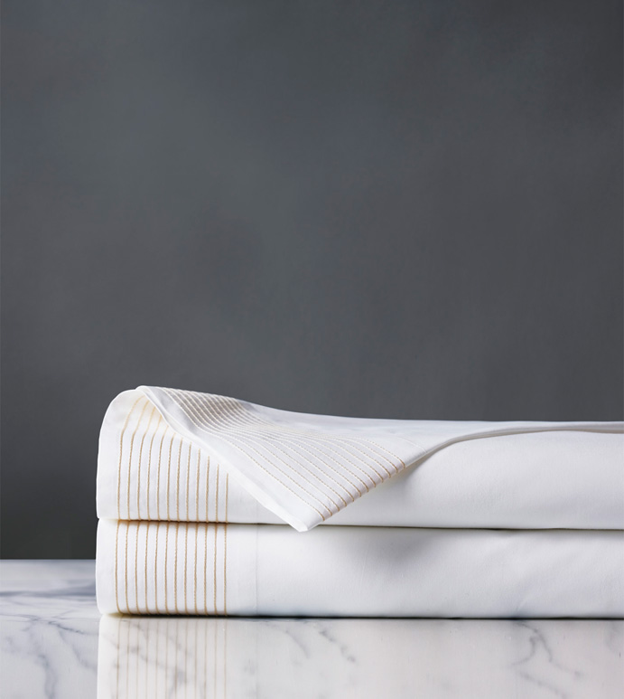 Marsden Bisque Flat Sheet - sheets,bisque flat sheet,sheeting,fine linens,bedding,luxury sheets,high-end sheets,high-quality sheets,200 thread count sheets,percale sheets,Egyptian cotton sheets