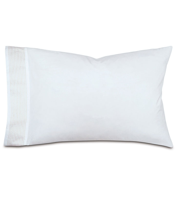 Marsden Bisque Pillowcase - pillowcase,bisque pillowcase,sheeting,fine linens,bedding,luxury sheets,high-end sheets,high-quality sheets,200 thread count,percale cases,Egyptian cotton pillow cases