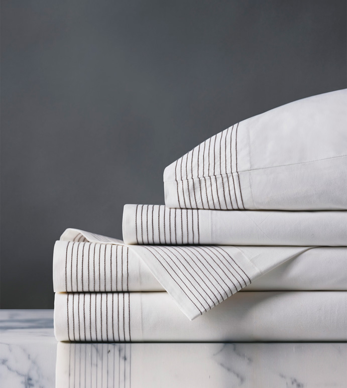 Marsden Dove Sheet Set - sheets,dove sheet set,sheeting,fine linens,bedding,luxury sheets,high-end sheets,high-quality sheets,200 thread count sheets,percale sheets,Egyptian cotton sheets