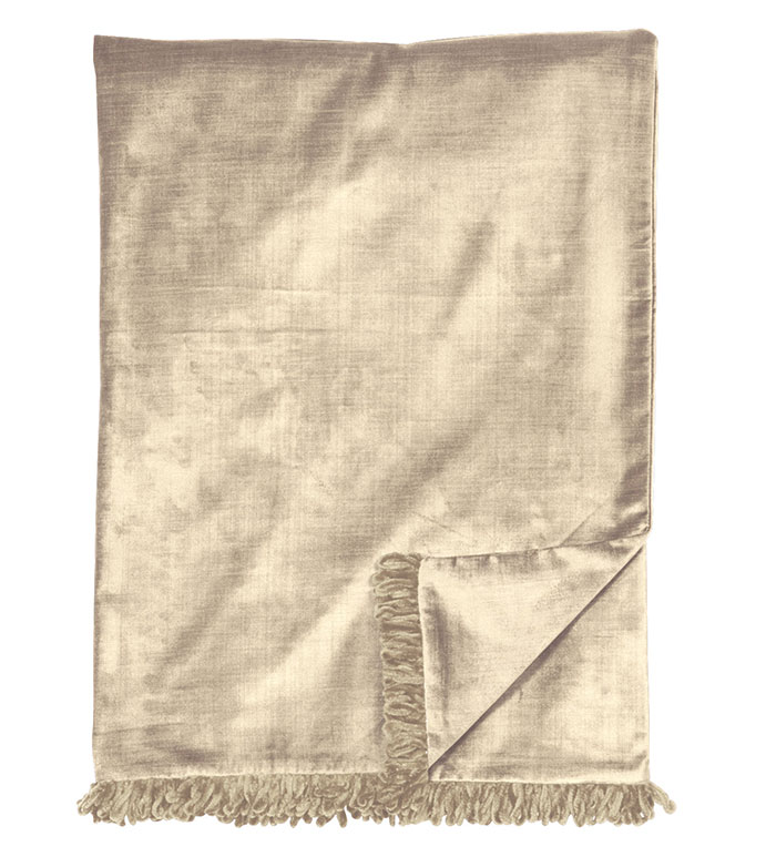 LUCERNE TAUPE THROW - ,