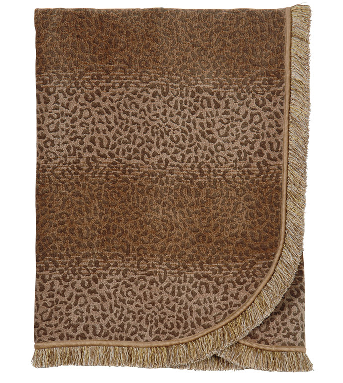 CONGO GOLD & BROWN THROW