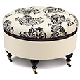 Evelyn Round Ottoman Eastern Accents