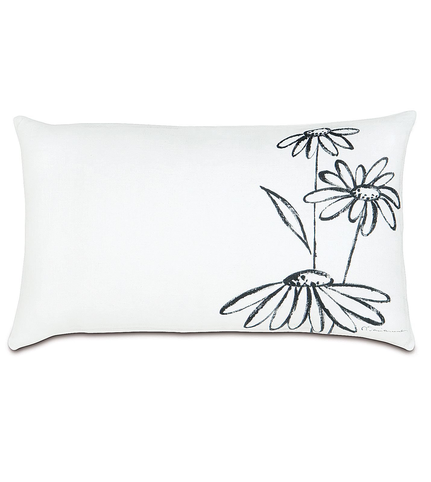 Daisy Outline Pillow Outline