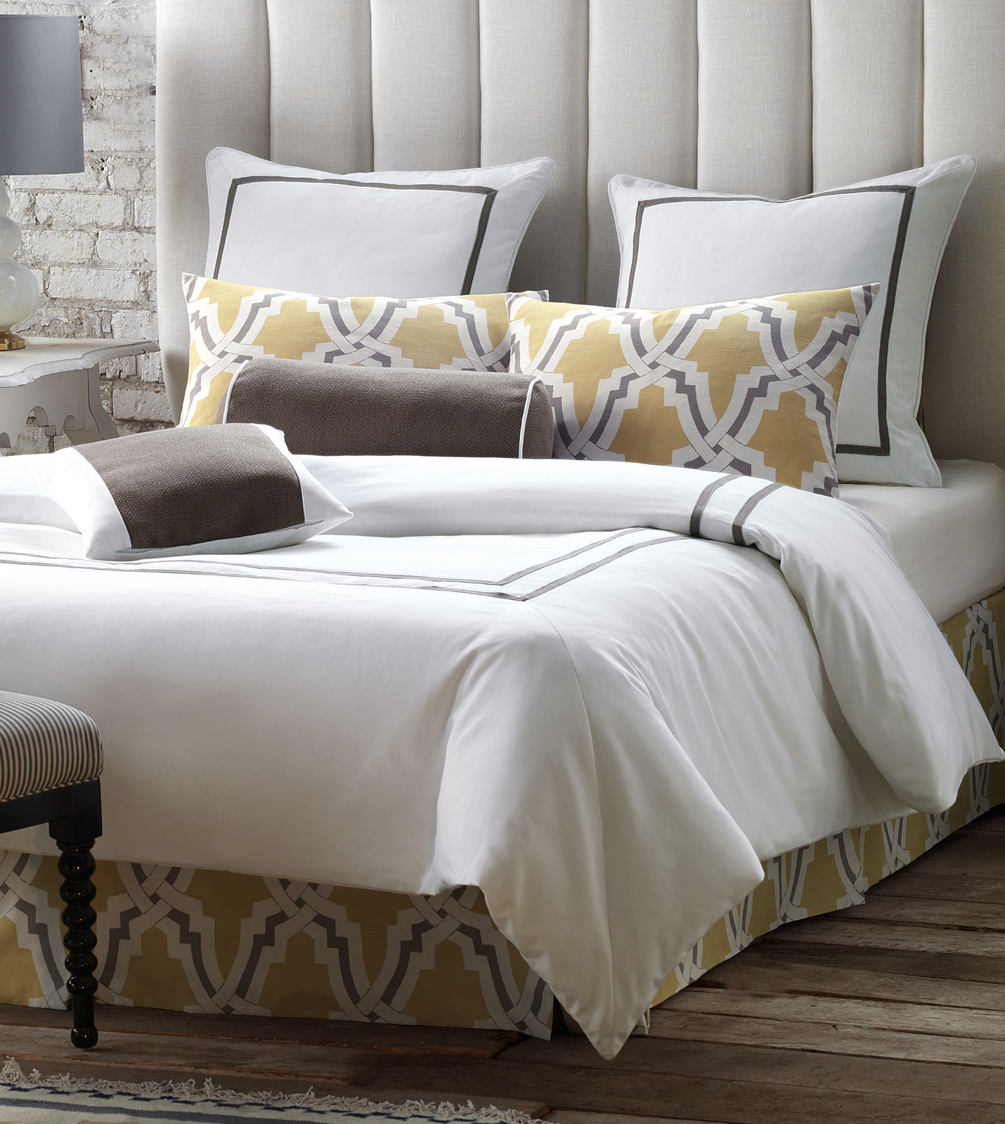 Gray And Yellow Daybed Bedding : Niche luxury bedding by eastern accents davis bedset