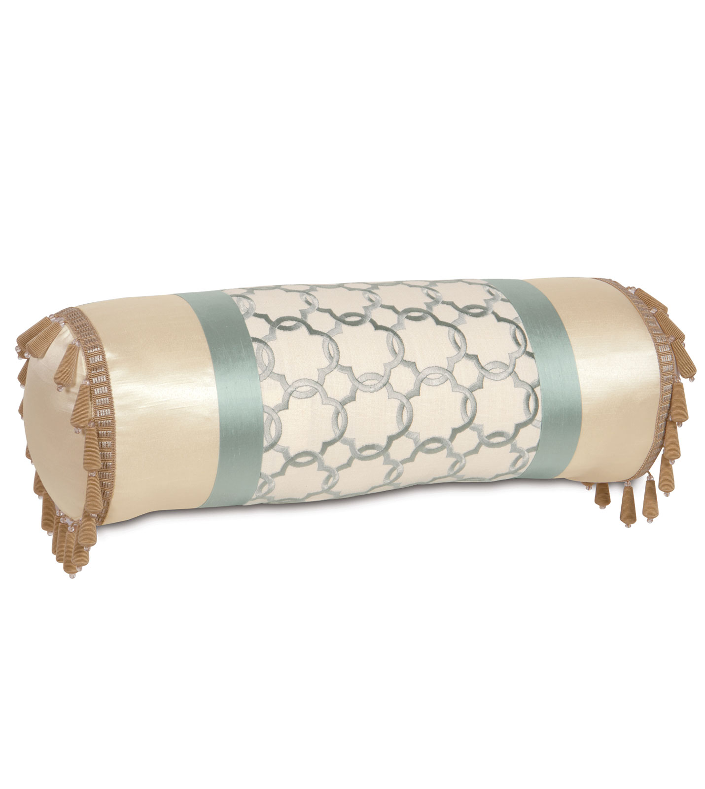 Luxury Bedding by Eastern Accents - VERLAINE OCEAN INSERT BOLSTER