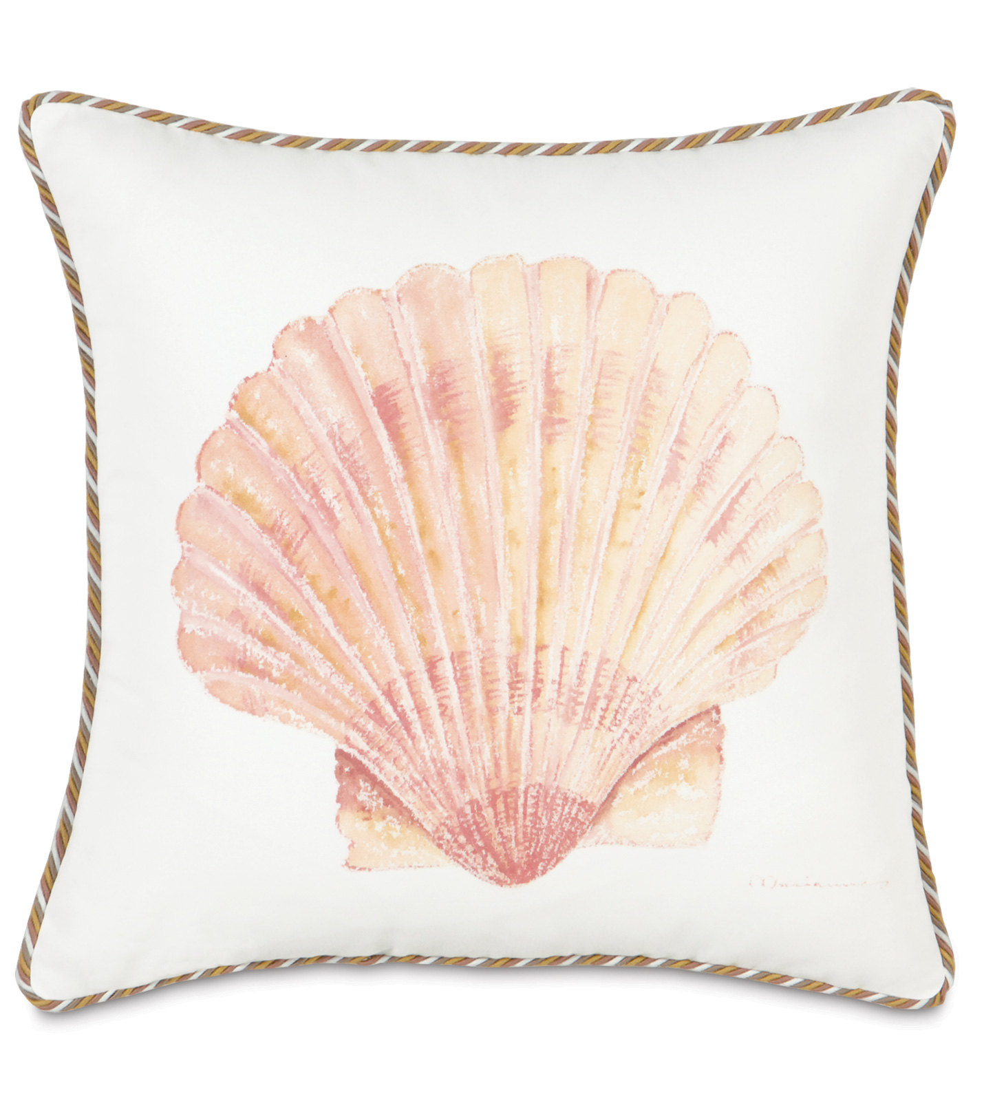Luxury Bedding by Eastern Accents - HAND-PAINTED SCALLOP SHELL