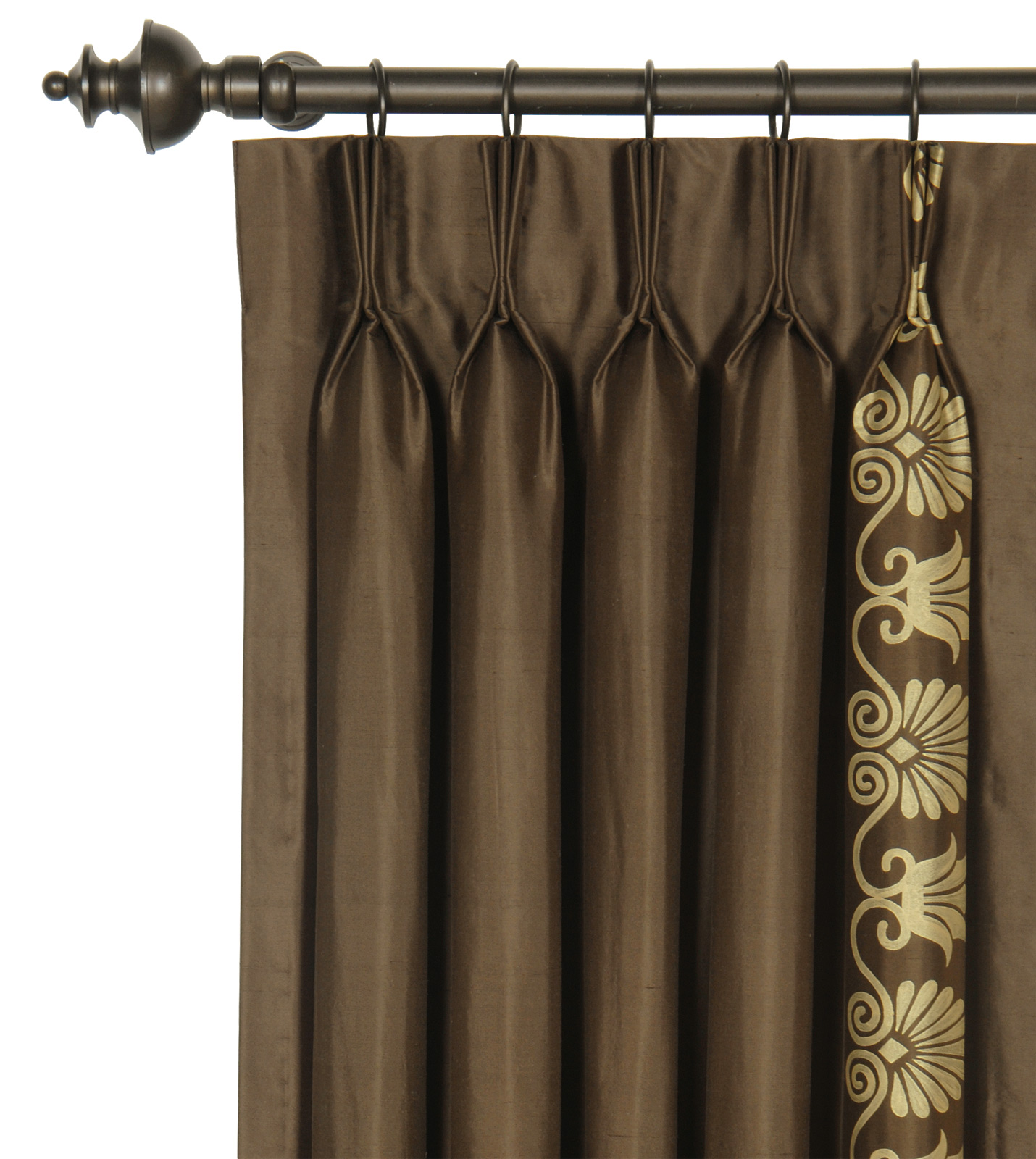 luxury bedding by eastern accents anthemion brown gold curtain panel. Black Bedroom Furniture Sets. Home Design Ideas