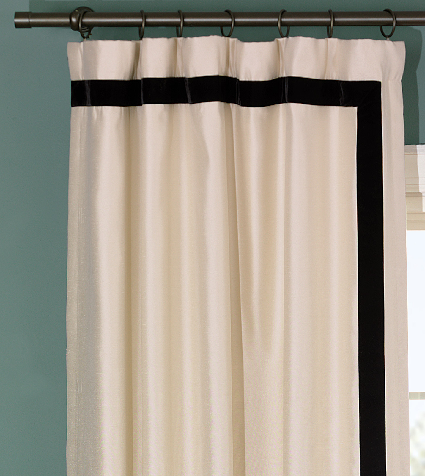 Niche luxury bedding by eastern accents witcoff ivory for Where to buy curtain panels