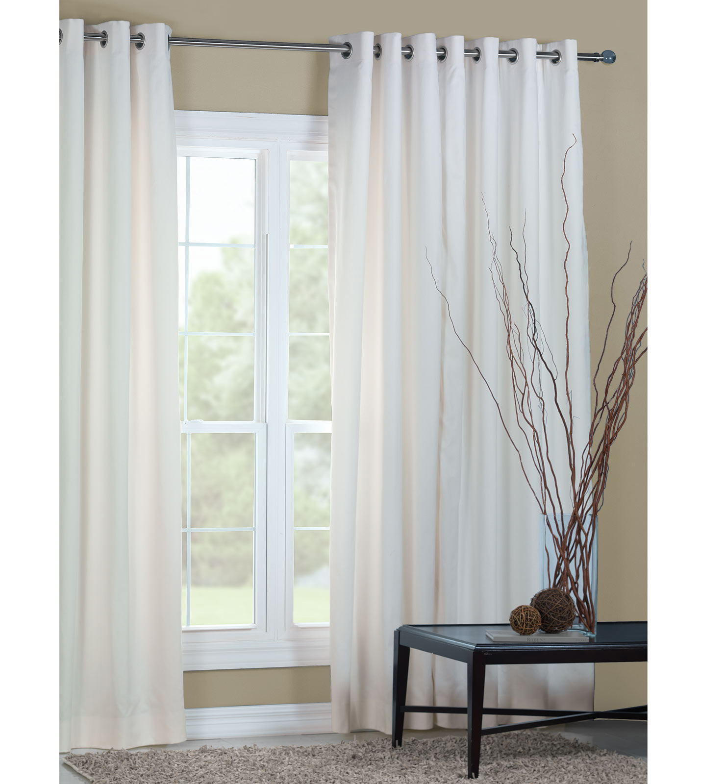 holiday luxury home decor by eastern accents eli white curtain panel
