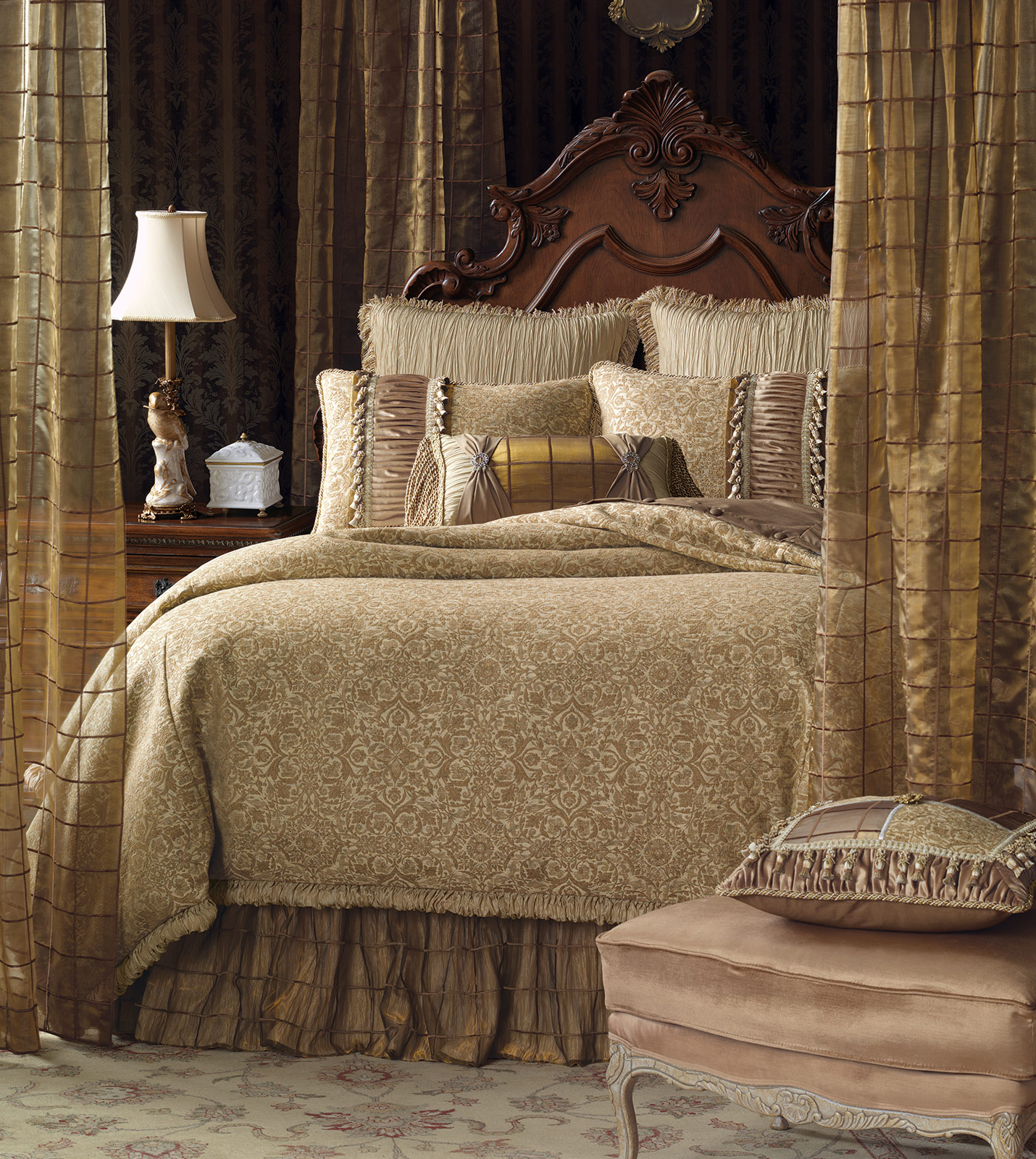 Marquise Luxury Bedding By Eastern Accents Wondrous Gold
