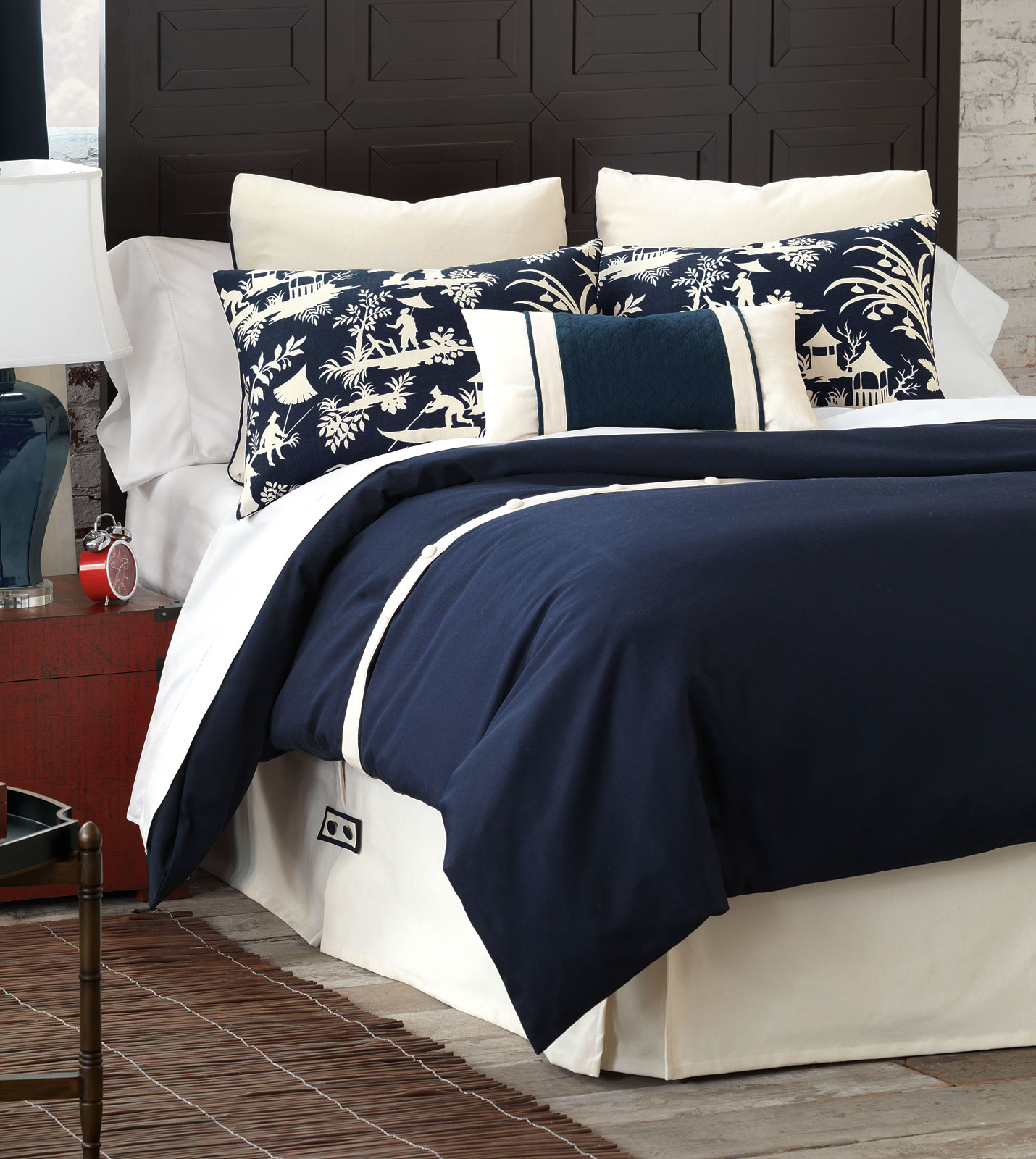Schooner navy duvet cover and comforter duvet cover decorative fabrics
