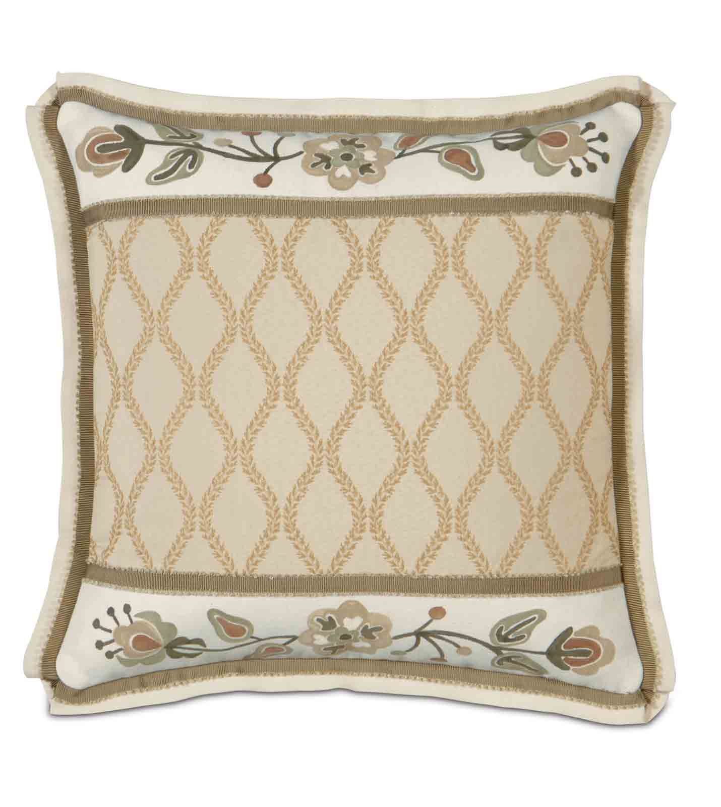 Luxury bedding by eastern accents griffin w hand painted for Hand painted pillows
