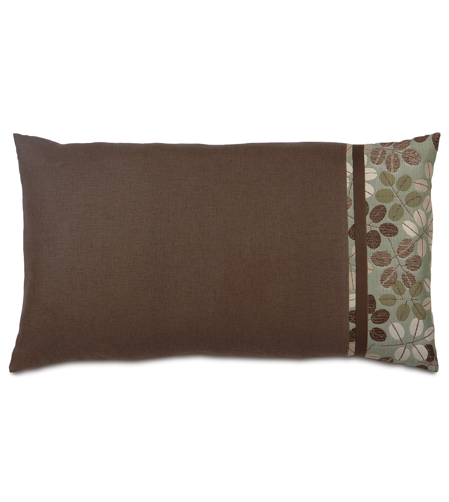 Decorative King Pillow Shams : Niche Luxury Bedding by Eastern Accents - LEON CHESTNUT KING SHAM RIGHT