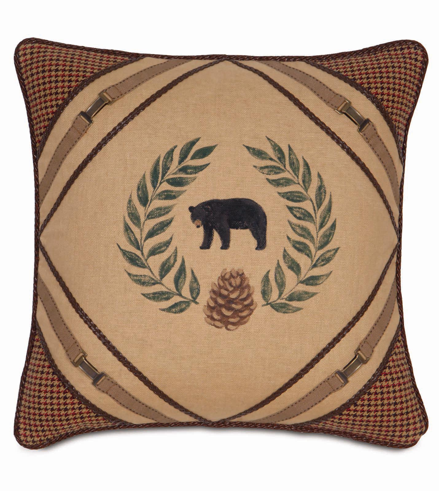 Studio 773 pillows by eastern accents hand painted bear for Hand painted pillows