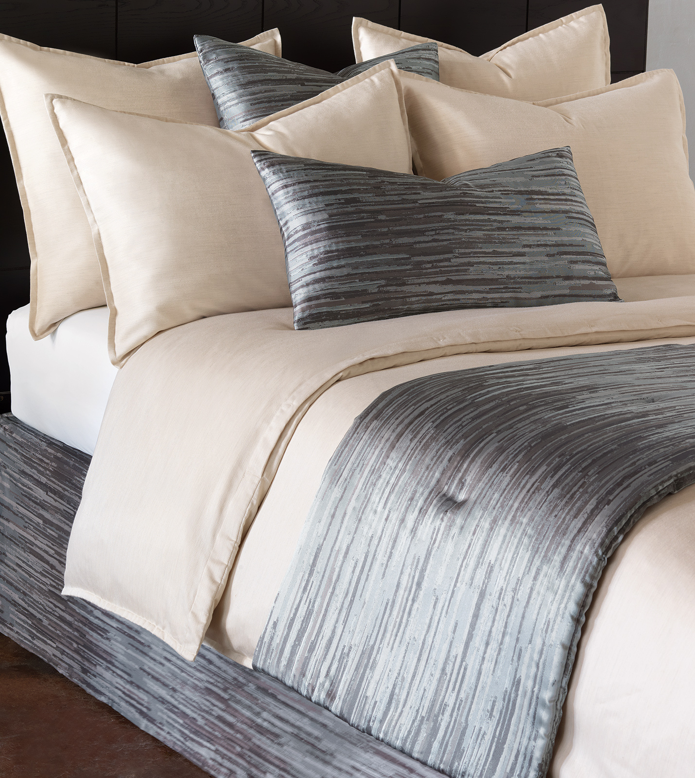 niche luxury bedding by eastern accents horta pewter bed