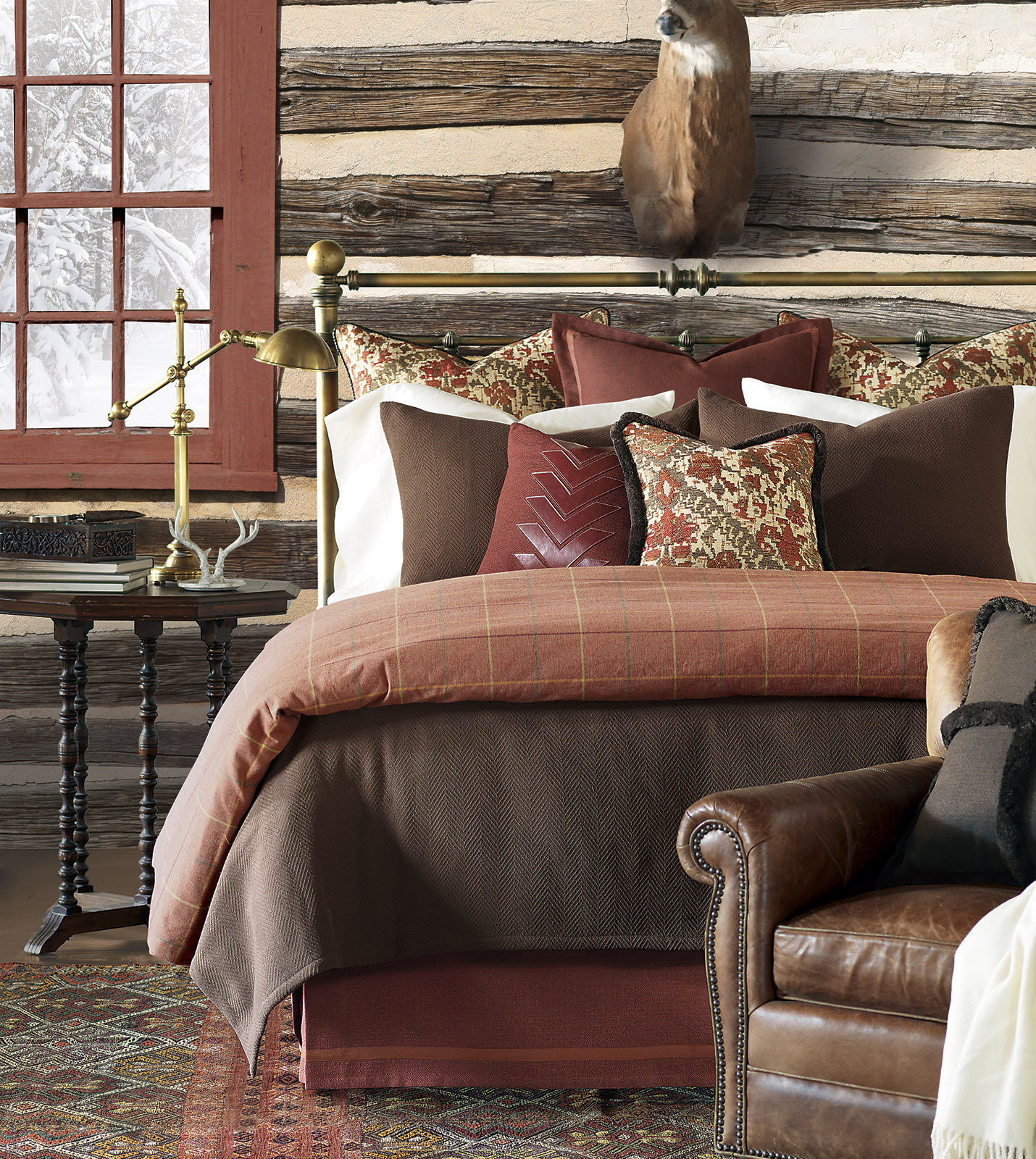 Luxury Bedding By Eastern Accents Bozeman Brown Standard
