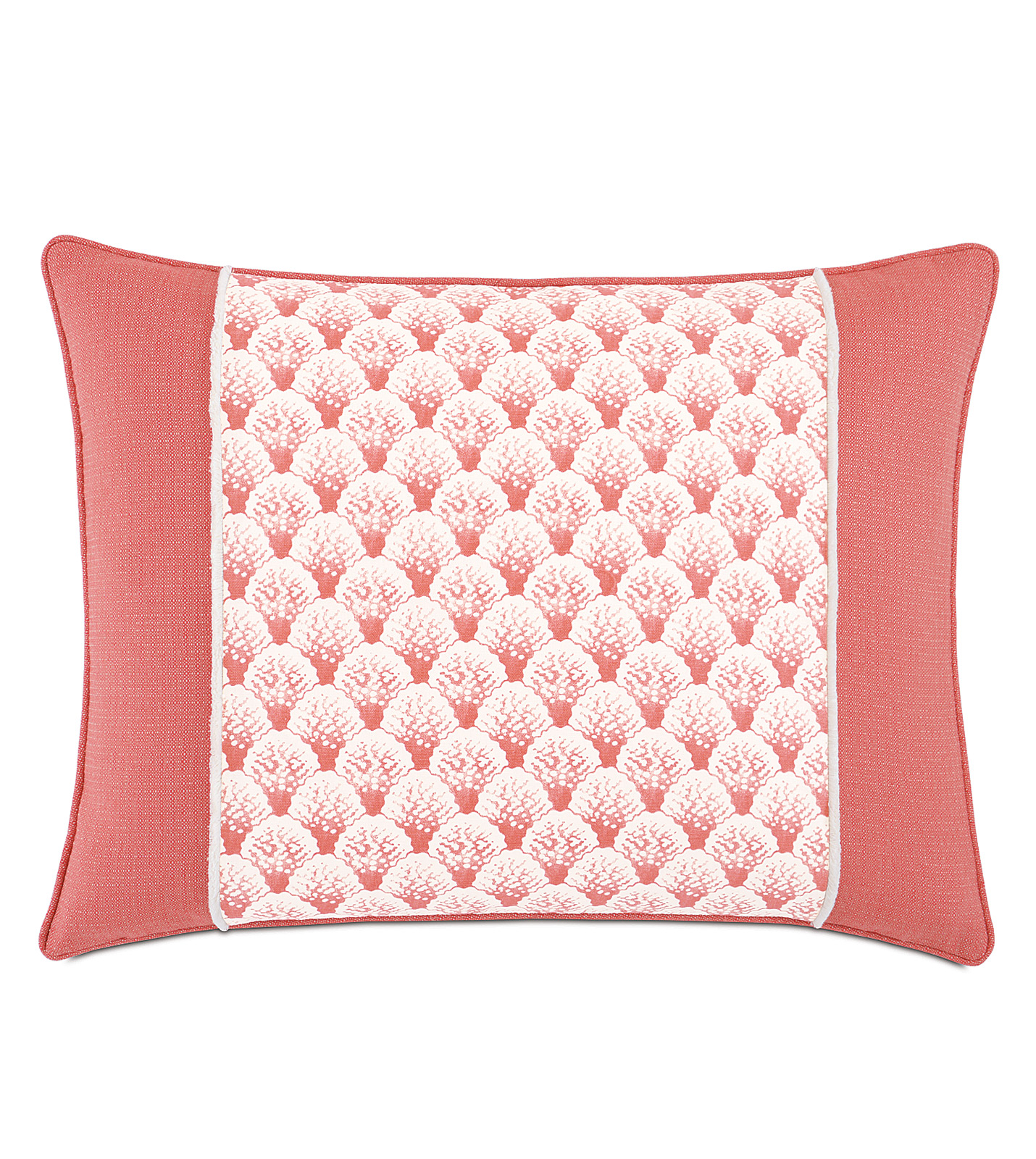 Standard Throw Pillow Inserts : Luxury Bedding by Eastern Accents - Koopa Coral Insert Standard Sham