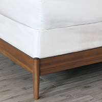 Baldwin White Box Spring Cover