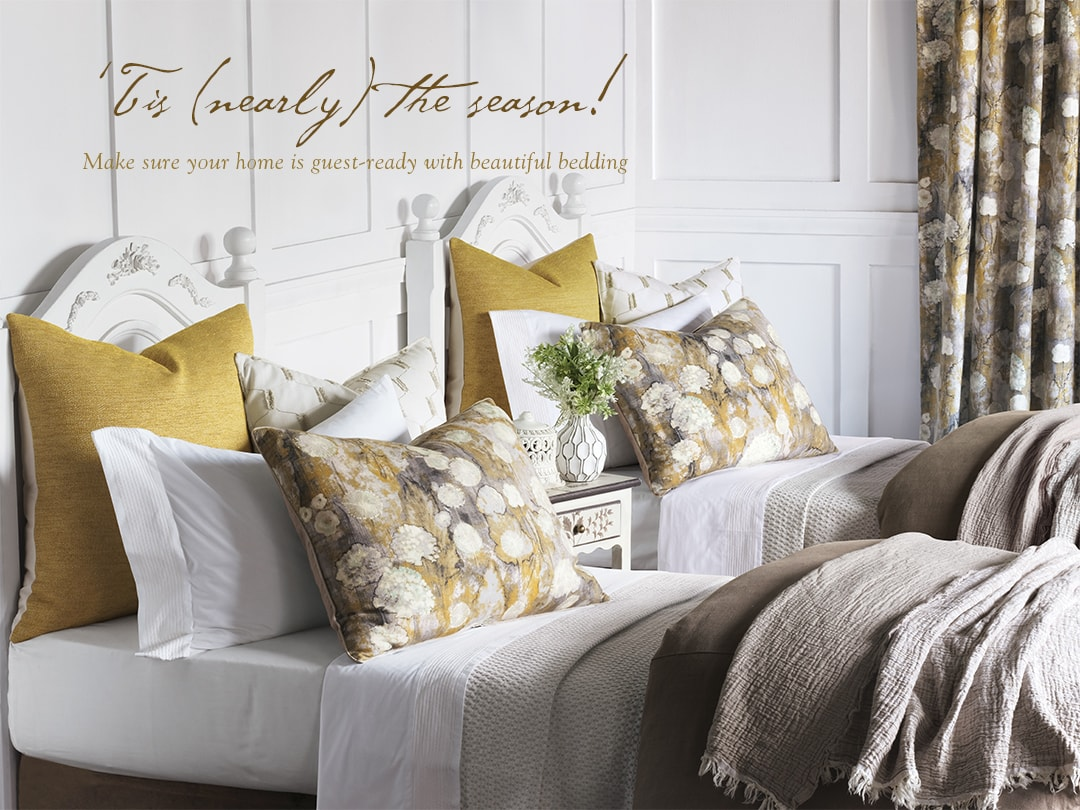 T'is (nearly) the season! Make sure your home is guest-ready with beautiful bedding